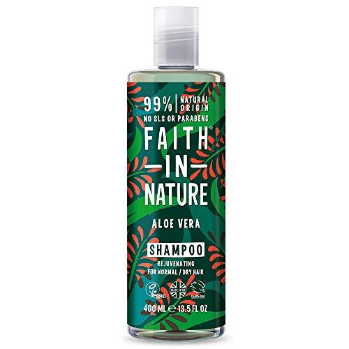 Faith in Nature Natürliches Aloe Vera Shampoo, Regenerierend, Vegan & Ohne Tierversuche, Frei von Parabenen und SLS, für Normales bis Trockenes Haar, 400 ml