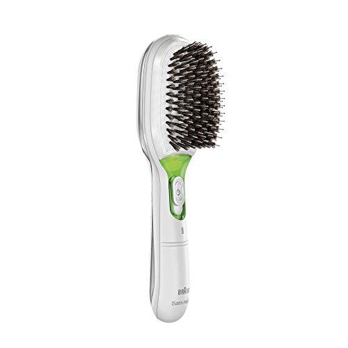 Braun Satin Hair7 IONTEC Haarbürste BR750, mit natürlichen Borsten und Ionentechnologie zur Förderung des Glanzes