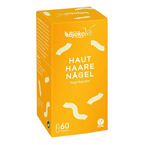 HAUT HAARE NÄGEL Kapseln - 60 hochdosierte Kapseln mit Biotin, Selen, Zink, Goldhirse und Bierhefe - Vegane Tabletten mit Vitamin C & E - Hergestellt in Deutschland