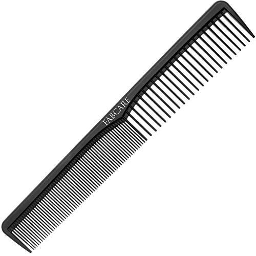 FABCARE Carbon Kamm Antistatisch - Bruchfester Friseur Kamm aus hochfestem Carbon-Kunststoff - Haarschneidekamm und Styling Kamm für Friseure - Haarkamm Männer für Haare und Bart