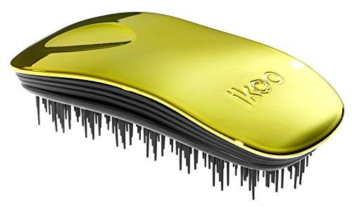 Ergonomische & hochwertige ikoo home soleil metallic Haarbürste mit schwarzem TCM-Borstenpanel für ein tägliche Wellness Erlebnis