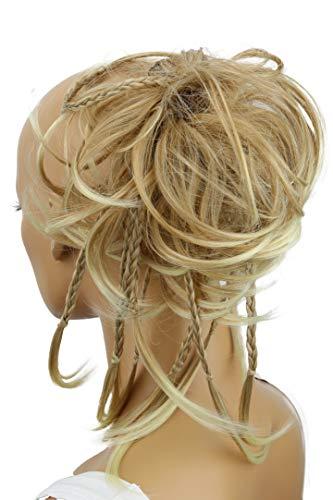 PRETTYSHOP XXL Haarteil Haargummi Hochsteckfrisuren Brautfrisuren Voluminös Gewellt Unordentlich Dutt Blond Mix G11D