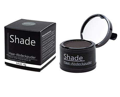 Shade Ansatzpuder – Haar Concealer zum Ansatz kaschieren, Hair Make-Up für Haarverdichtung, Haarpuder wasserfest, Hair Line Powder - (Hellbraun)