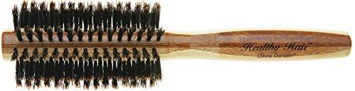 Olivia Garden Healthy Hair Bambus Haar-Rundbürste 100% Boar HH-B20, mit reinen Wildschweinborsten, 20 mm