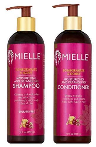 Mielle Granatapfel & Honig Feuchtigkeitsspendendes und entwirrendes Shampoo & Conditioner Set (je 355 ml)