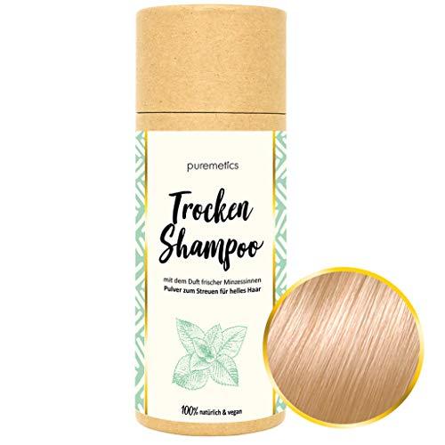 puremetics Zero Waste Trocken Shampoo für helles Haar (Peppermint) 100% natürlich, vegan & plastikfrei