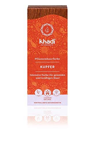 khadi Pflanzenhaarfarbe Kupfer 100g I Haarfarbe Kupfergold bis Kupferrot I Naturhaarfarbe 100% natürlich und vegan