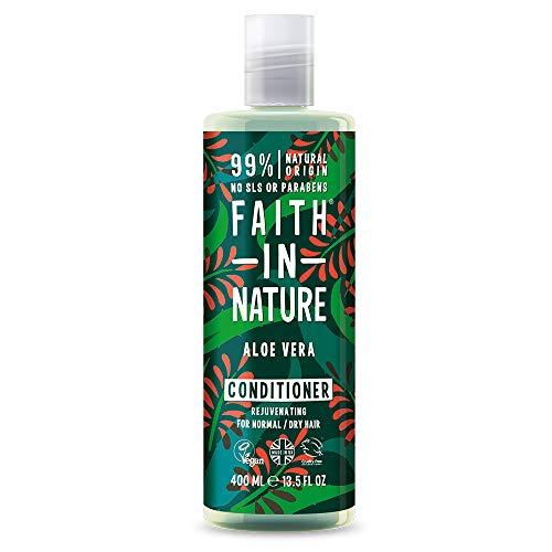 Faith in Nature Natürlicher Aloe Vera Conditioner, Regenerierend, Vegan & Ohne Tierversuche, Frei von Parabenen und SLS, für Normales bis Trockenes Haar, 400 ml