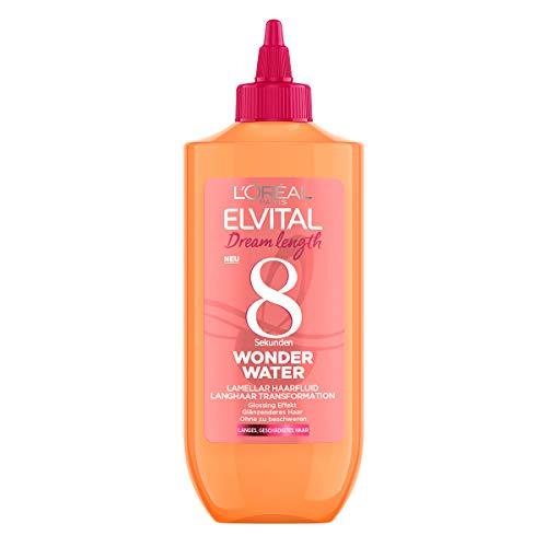 L'Oréal Paris Elvital Haarkur für geschmeidiges Haar, Ohne Silikone, Ohne Einwirkzeit zum Ausspülen, Dream Length 8 Sekunden Wonder Water Lamellar Haarfluid, 1 x 200 ml