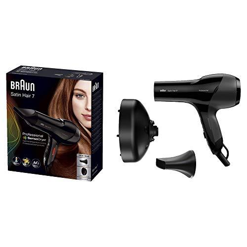 Braun Satin Hair 7 SensoDryer Haartrockner HD 785, mit IonTec und Diffusor, 2000 Watt, Schwarz