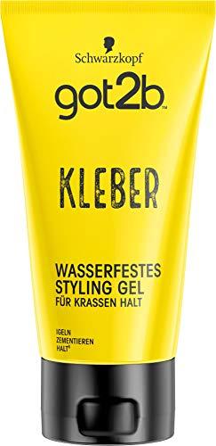 got2b Schwarzkopf Kleber, wasserfestes Styling Gel, 1er Pack (1 x 150ml)