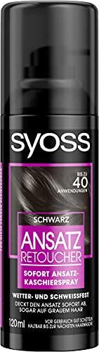 SYOSS Ansatz Retoucher Ansatz-Kaschierspray, Haarfarbe Schwarz, bis zu 40 Anwendungen, 3er Pack (3 x 120 ml)