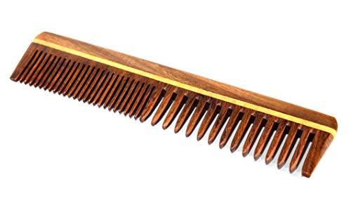 eSplanade Holzkamm für Männer & Frauen - Sheesham Wood Handmade Anti-Static Hair, Bartkamm. (7,5 Zoll)