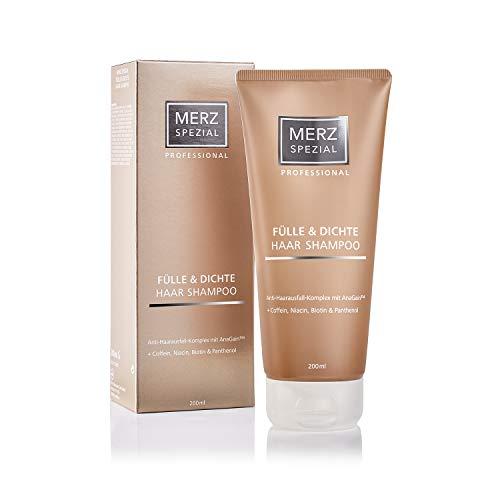 Merz Spezial Professional Haar Shampoo Fülle & Dichte - für mehr Haarwachstum und Volumen mit Koffein, Biotin, Keratin (1 x 200 ml)