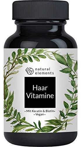 Haar Vitamine - 180 Kapseln - Premium: Hochdosiert mit Keratin, Biotin, Selen, Zink, Hirseextrakt, bioaktiven B-Vitaminen & mehr - Laborgeprüft