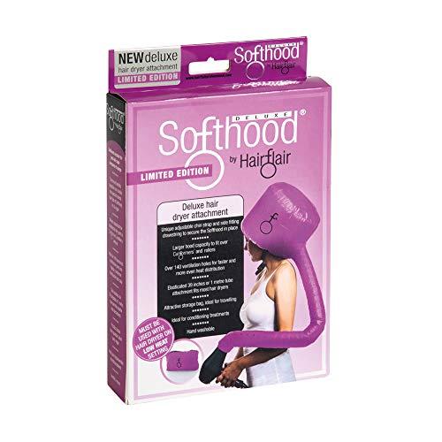 Hair Flair Softhood Deluxe - Trockenhaube für Haartrockner - Pink
