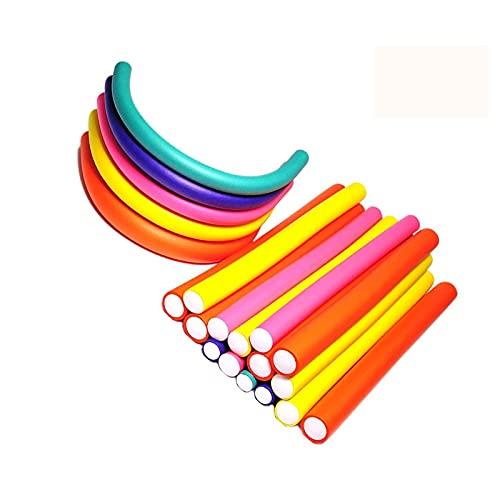 Pinkiou Lockenstäbe drehen flexible Stäbe aus Schaumstoff Lockenwickler für DIY (42 Stück)