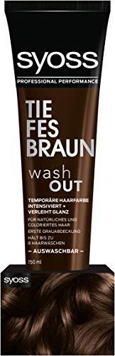 SYOSS Washout Stufe 1 Braun, temporäre Haarfarbe, 1er Pack (1 x 150 ml)