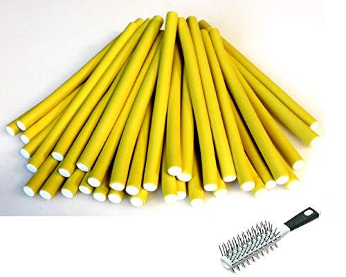 Papilotten - Flex-Wickler Set 36 Stck. + Kosmetiktasche - 10 mm gelb (von deutschem Friseurbedarf-Fachhändler!)
