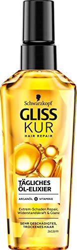 Schwarzkopf Gliss Kur tägliches Öl Elixir Haarpflege mit Arganöl, 1er Pack (1 x 75ml)