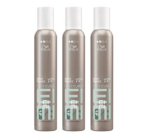 Wella EIMI Boost Bounce 3 x 300 ml Locken-Mousse Volume Schaumfestiger Styling Professionals by Wella