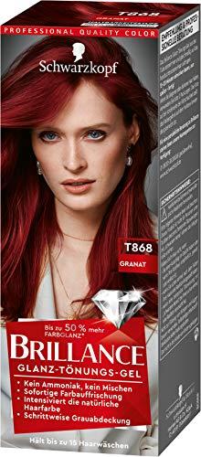 Brillance Glanz-Tönungsgel, Haarfarbe T868 Granat Stufe 1, 3er Pack(3 x 60 ml)
