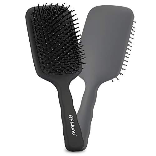 BFWood Große Paddelbürste zum Entwirren, perfekt für nasses oder trockenes Haar, für Frauen, Männer und Kinder (mattschwarz)