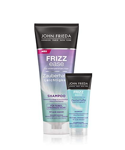 John Frieda Frizz Ease - Shampoo - Zauberhafte Leichtigkeit - Spendet Feuchtigkeit - Für feines, strohiges Haar - Vorteilsset