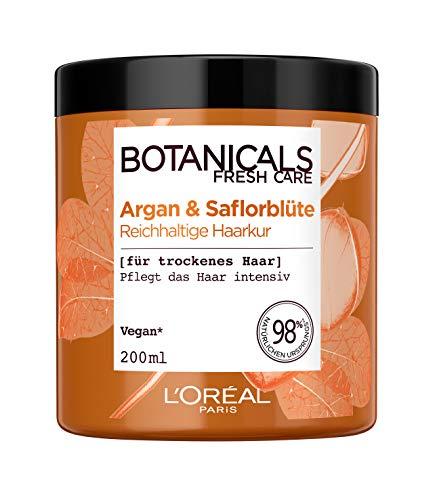 Botanicals Reichhaltige Kur, ohne Silikon für trockenes Haar, mit Argan und Saflorblüte, pflegt das Haar intensiv, 1er Pack (1 x 200 ml)
