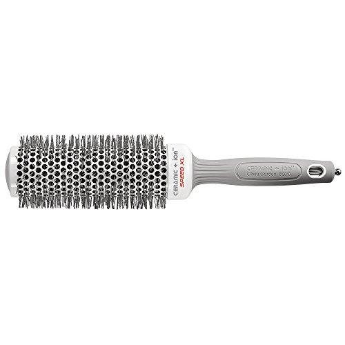 Olivia Garden Rund-Haar-Bürste Ceramic + Ion Speed XL 45/60 mm, langer Bürstenkörper für kürzere Föhnzeiten, antistatische Rundbürste (Ionen Haarbürste) zum Föhnen und Glätten mittellanger Haare
