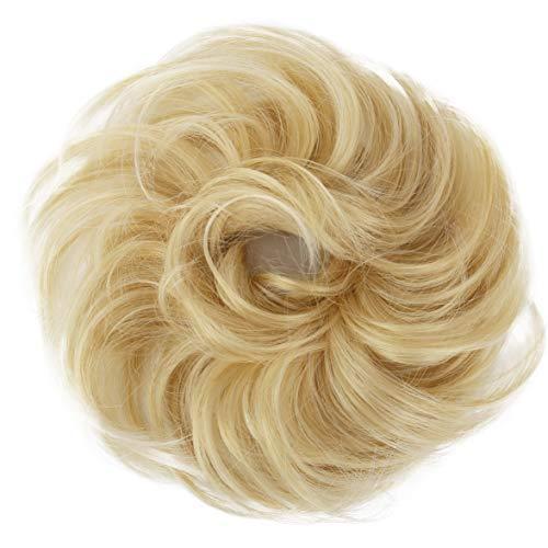 PRETTYSHOP Haarteil Haargummi Hochsteckfrisuren Brautfrisuren Voluminös Leicht Gewellt Unordentlich Dutt Blond Mix G28B