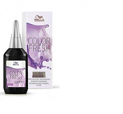Wella Color Fresh Glanz-Tönung 10/ 81 hell-lichtblond perl-asch, 2er Pack, (2x 75 ml)