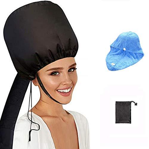 Trockenhauben für Haare, 2019 Verbesserte Version Haubenhaartrockner mit Blauem Handtuch - Befestigung Haartrockenhaube Frei Verstellbar für Pflege Tiefenpflege