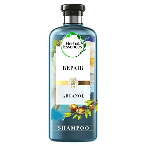 Herbal Essences PURE:renew Marokkanisches Arganöl Repair Shampoo, 250 ml, Haarpflege Arganöl, Haarpflege Glanz, Haarpflege Trockenes Haar, Arganöl Haare, Argan Öl, Shampoo Damen, Aloe Vera