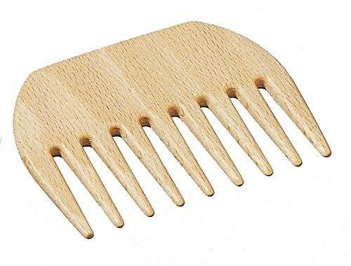 Afrokamm aus Holz - hochwertiger Frisierkamm mit grober Zahnung, Lockenkamm, Strähnenkamm, Fingerstyler, Haarkamm, Holzkamm aus Buchenholz, Länge ca. 90 mm, hergestellt in Deutschland