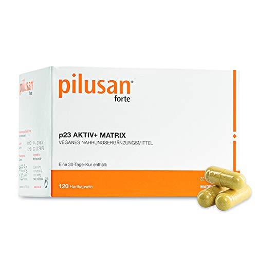 PILUSAN FORTE Haar-Vitamine - innovative & hochdosierte Haar-Kapseln in deutscher Apotheken-Qualität - 120 vegane Kapseln mit Zink, Biotin, Folsäure, Selen