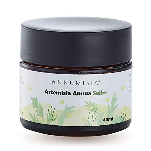 ANNUMISIA® Artemisia Annua Salbe mit DMSO 40 ml - Einjähriger Beifuß, Manzanilla Öl, Vitamine E und Bienenwachs - Naturkosmetik ohne Zusatzstoffe