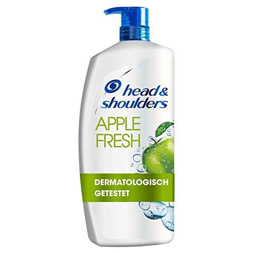 Head & Shoulders XXL Apple Fresh Anti Schuppen Shampoo, 900 ml, Pumpspender, Shampoo gegen Schuppen, Juckreiz und Trockene Kopfhaut, mit Langanhaltendem Apfelduft, Haarpflege, XXL Shampoo Spender