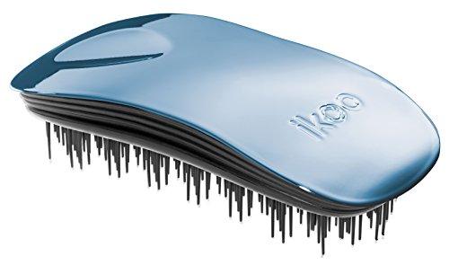 Ergonomische & hochwertige ikoo home pacific metallic Haarbürste mit schwarzem TCM-Borstenpanel für ein tägliche Wellness Erlebnis