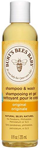Burt's Bees Baby Shampoo & Waschgel, Parfümfreie, sanfte Babyseife, 235 ml Flasche