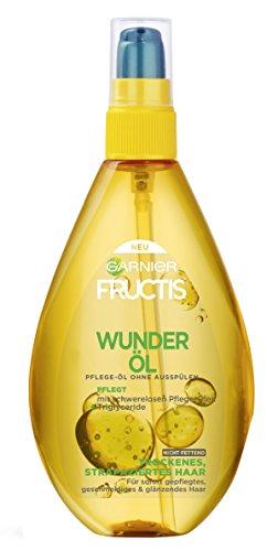 Garnier Fructis Oil Repair 3 Wunder-Öl, pflegendes Haaröl für trockenes, strapaziertes Haar, ohne Ausspülen, nicht fettend, 1er-Pack (1 x 150 ml)