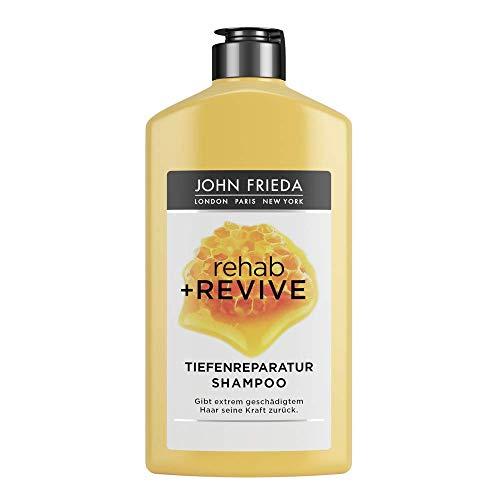 John Frieda Rehab + Revive Reparatur-Shampoo - Für extrem strapaziertes, geschädigtes Haar - Mit kostbarer Honig-Mischung, 250 ml