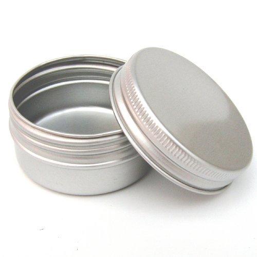 Packung mit 25 x 30ml leere Aluminiumtöpfe für Kosmetika, Kerzen, Haarpflegeprodukte, Hautpflege-Produkte oder Trocken Lagerung von Lebensmitteln (Kräuter, Gewürze und mehr)