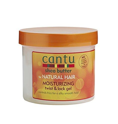 Cantu - Feuchtigkeitesspendendes Twist&Lock Gel - Anti-Frizz Styling Gel für lockiges und strukturiertes Haar - 1er Pack (1x 370g) CTU07005