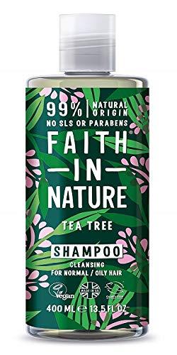 Faith in Nature - 100% natürliches Shampoo mit Bio-Tee-Extrakt direkt aus der Pflanze für alle Haartypen - für häufiges Waschen - keine Sulfate - ohne Parabene - Vegan
