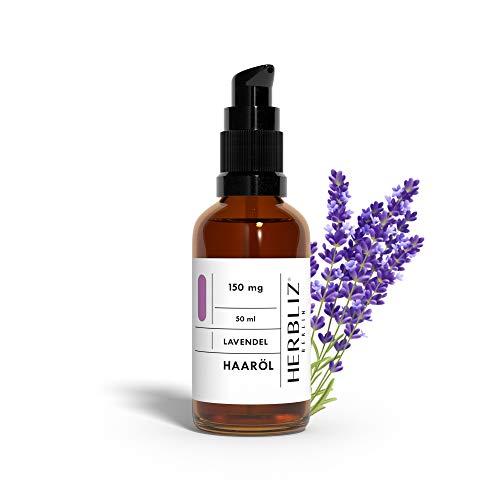 HERBLIZ Lavendel Haaröl ohne Silikon und Parabene   Ätherische Öle für Natürliche Haarpflege, Haar Styling & Haarkur für alle Haartypen geeignet   Naturkosmetik   Hair oil   Mit Avocado- & Mandel-Öl
