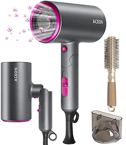 Föhn Professioneller Ionen Haartrockner Schnell Trocknend 1800W Kleiner Föhn - Faltbar Haarfön Hair Dryer mit Heiz / Abkühlstufe & Haarkämme