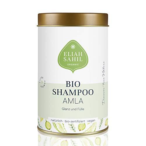 AMLA Bio Pulver Shampoo von ELIAH SAHIL 100 gr. Amla Pulver ca. 30 x waschen - 100% Bio Naturkosmetik Damen und Herren - Anti Haarausfall wirksam gegen Graue Haare
