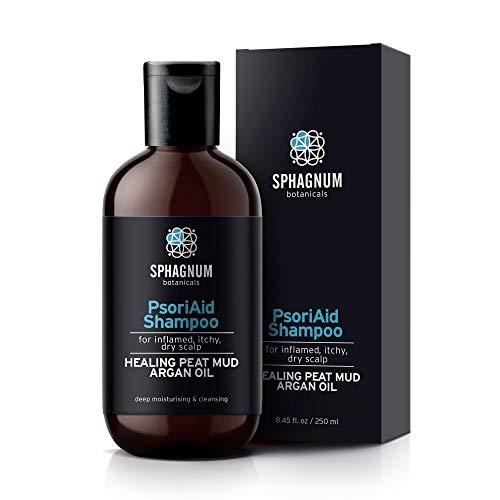 Natürliches Shampoo gegen Schuppenflechte – Haarshampoo Heiltorfbehandlung bei Dermatitis, Ekzem und juckender Kopfhaut Tiefenbefeuchtung & Reinigung mit Arganöl 100% frei von Steinkohlenteer
