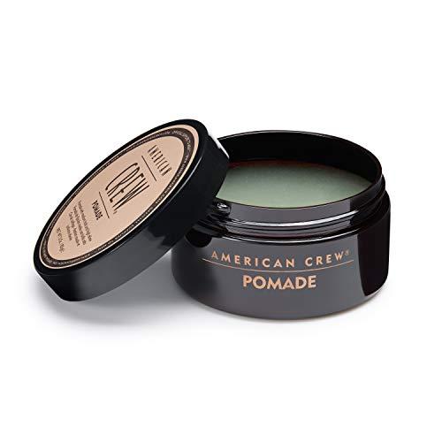 AMERICAN CREW – Pomade, 85 g, Stylingprodukt für Männer, Haarprodukt mit mittlerem Halt, Haarpomade auf Wasserbasis, optimal für glatte Frisuren mit viel Glanz